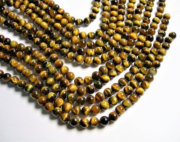 Tiger eye -10mm round bead - full strand  - 40 beads - RFG453