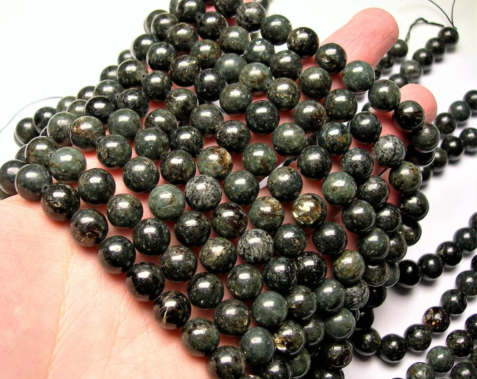 Astrophyllite -  10mm round - A quality - 39 beads per strand -  1 full strand - very  rare - RFG382
