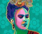 La Friducha: Flower Crown, Frida Kahlo-inspired Art Prints