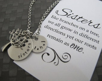Sisters Gift - Gift Sister - Sister Necklace - Sister Jewelry - Sister Birthday Gift -  Tree Of Life Necklace - Personalized Sister Necklace