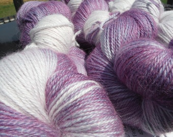 Alpaca/Silk/Cashmere Fingering 400 yds/100 g-Lilacs for Rememberance
