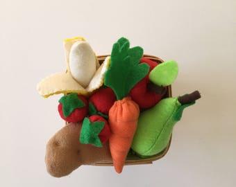 Felt Food Vegetables | Veggie Set | Play Food | Felt Food | Felt Fruit Set | Play Pretend | Felt Food Toys | Play Kitchen Food | Montessori