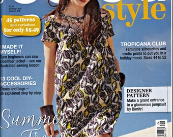 Burda Style Magazine with Insert Containing 45 Patterns and Variations April 2017 Summer Trends  European Cut Patterns English Version