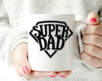 Siper Dad. World's best dad mug. Best Dad . father's day mug. gift for Father.  Husband Wife Custom 11 oz  Ceramic Dishwasher Safe