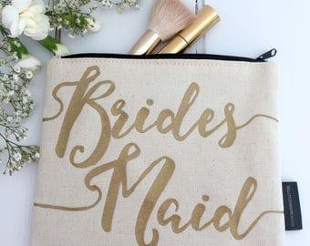 Bridesmaid Cosmetics Bag   Bridesmaid Make-Up Bag   Bridesmaid Makeup Bag   Be My Bridesmaid   Bridesmaid Thank You Gift   Bridesmaid Gift