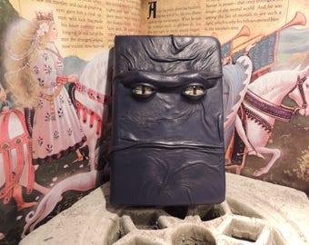 Mythical Beast Book (Dark Blue  leather with Orange eyes)
