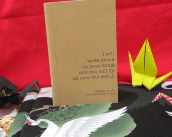 Peace on Your Wings Kraft Paper Notebook / Journal / Sketchpad