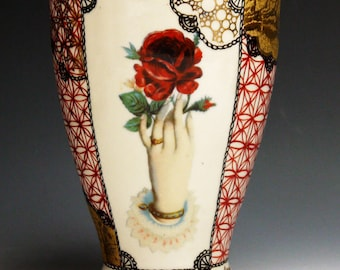 Milch Tasse (milk mug), handpainted porcelain