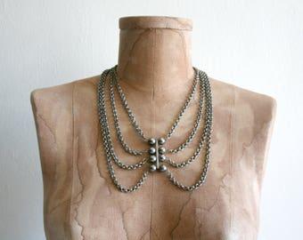 Chain Tribal Bib Necklace