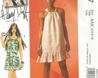 McCall's 5617 Hilary Duff Dress Pattern SZ 4-10