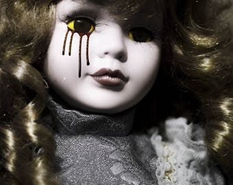 Creepy etsy - Scary yellow eyes ...