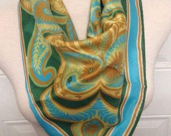 Vintage Women's Scarf Multi Colored By Vera Made In Italy 100% Polyester