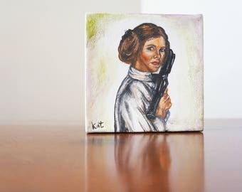 General Leia. Original oil painting