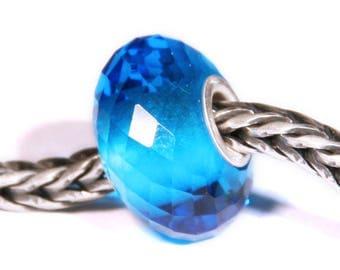 Gemstones by Anne Meiborg - Artisan europian charm bead -  small core - BHB big hole - Blue Quartz - 07547