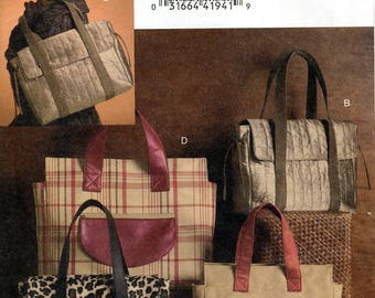 Vogue Accessories V8439 Sewing Pattern for Misses' Bags - Uncut