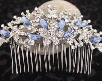 Wedding hair piece Bridal comb Wedding hair accessories Bridal hairpiece head piece Bridesmaids hair piece Bridesmaids comb Something blue
