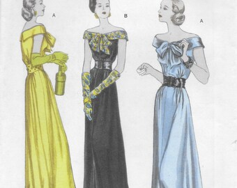 Butterick 5137 Women's Floor Length Evening Dress Sewing Pattern Size 8 to 14 Bust 31 1/2 to 36