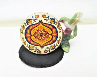 Vintage Powder Compact | Enamel Compact | Mirror Compact | Pennsylvania Dutch