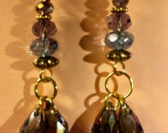 Aurora Borealis Crystals Earrings