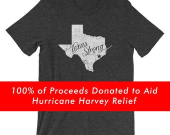 Texas Strong Tee • Dark Heather Grey • 100% of Proceeds Donated to Support Those Affected By Hurricane Harvey