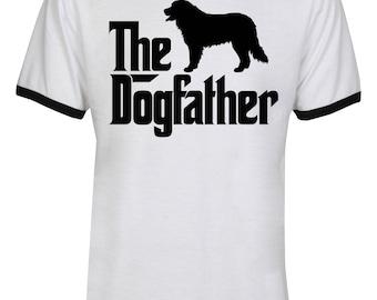 The Dogfather Bernese Mountain Shirt - The Dog Father Bernese Mountain Shirt - Dog Dad - Men Unisex Ringer Tee T-Shirt - IZRSUB186