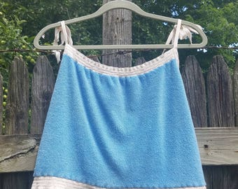 Baby Blue Terrycloth Tank Top - SM/MED