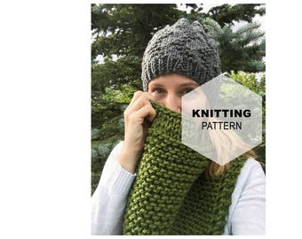 Cutline Cowl | Triangle Cowl Pattern | Triangle Scarf Pattern | Chunky Knit Cowl Pattern | Triangle Cowl Pattern