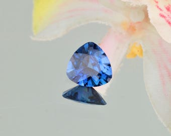 Ceylon Blue Sapphire Triangle Shape 7.4 MM Natural Loose Gemstone