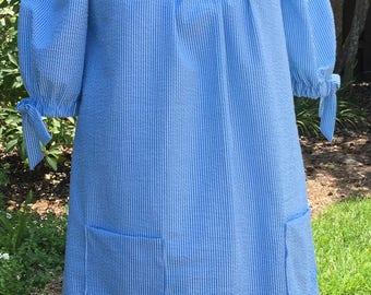Maybelle, Off-The-Shoulder Women's Seersucker Dress