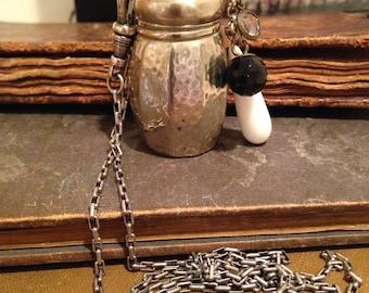 Salt Shaker Assemblage Necklace