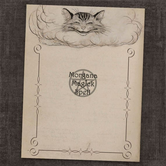 Cheshire Cat Book of Shadows Page