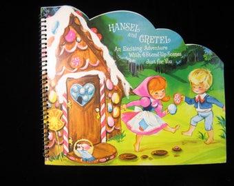 VTG 1960's Hallmark 3-D Play-Around Hansel and Gretel Childrens Book