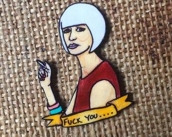 Twin Peaks DIANE pin badge