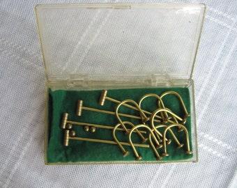 Desktop Brass Croquet Set, Miniature