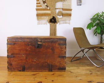 Wood Coffee Table,wood Trunk,blanket Box,XLarge,farmhouse Coffee Table,
