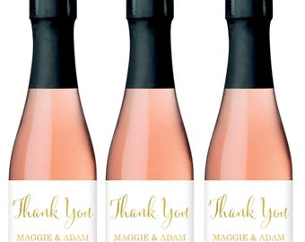Wedding Mini Champagne Labels - Custom Champagne Bottle Labels - Engagement Party Champagne Sticker - Wedding Mini Champagne Bottle Labels