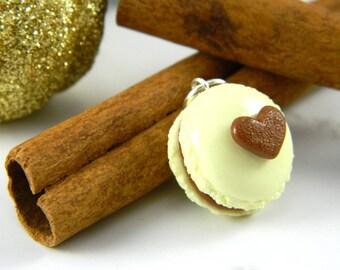 Eggnog Macaron Charm , Macaron Planner Charm , Holiday Macaron Charm , Gingerbread Macaron Charm , Macaron Charm , Planner Charm , Clay Food