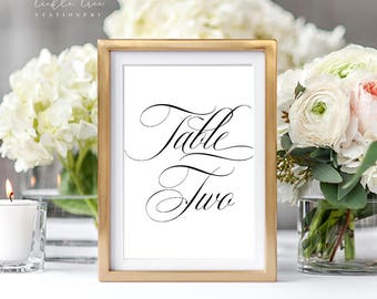 Reception Table Numbers - Script Font (Style 13745)