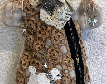 Starry Eyed Hand Puppet,Grunge,Boho,Story Telling,Puppet Show,Entertainment,Puppet show,Star Power,Steampunk,Handcrafted,Unique design,OOAK