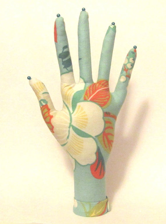 CLASSIC Fabric HAND-Stand ~ Jewelry Display ~ Ready to Ship