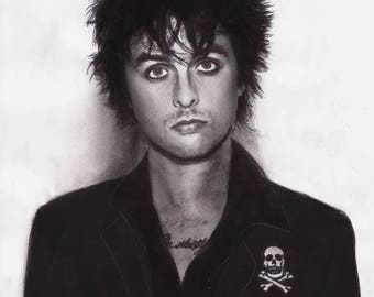 Billie Joe Armstrong - Green Day - 8.5x11 Charcoal Portrait