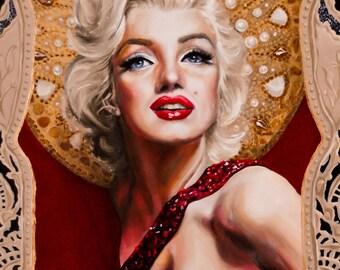 Saint Marilyn Monroe Art Print - matted 5x7