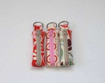 Lip Balm Cozy - fandango bunch 3 - lipstick keychain