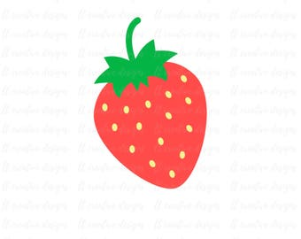 Strawberry SVG, Strawberry Clipart, Pineapple Cutting File, Summer SVG, Cricut Cutting Files, Silhouette Cutting Files, SVG Files