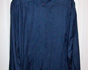 Vintage Ladies Navy Blue Blouse by Wilton Place Size 16 Only 7 USD