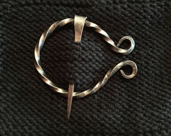 Small Bronzed Steel Penannular Pin