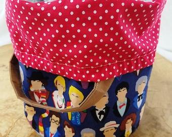 The Twelve Doctors - Bucket Style Project Bags