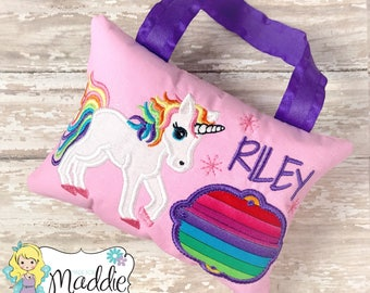 Girls Tooth Fairy Pillow, Princess Tooth Fairy Pillow, Keepsake Tooth Fairy Pillow, Unicorn Tooth Fairy Pillow, Personalized, Unicorn Pillow