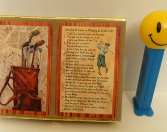 Vintage Playing Cards Golf Theme, Golf Articles & Laws, Double Deck Card Deck Complete w/ Jokers Game Night, Congress Poker Cards, Swap Card