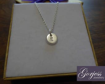 Handmade Silver Charm - Chunky Initial Pendant - Personalised Little Charm